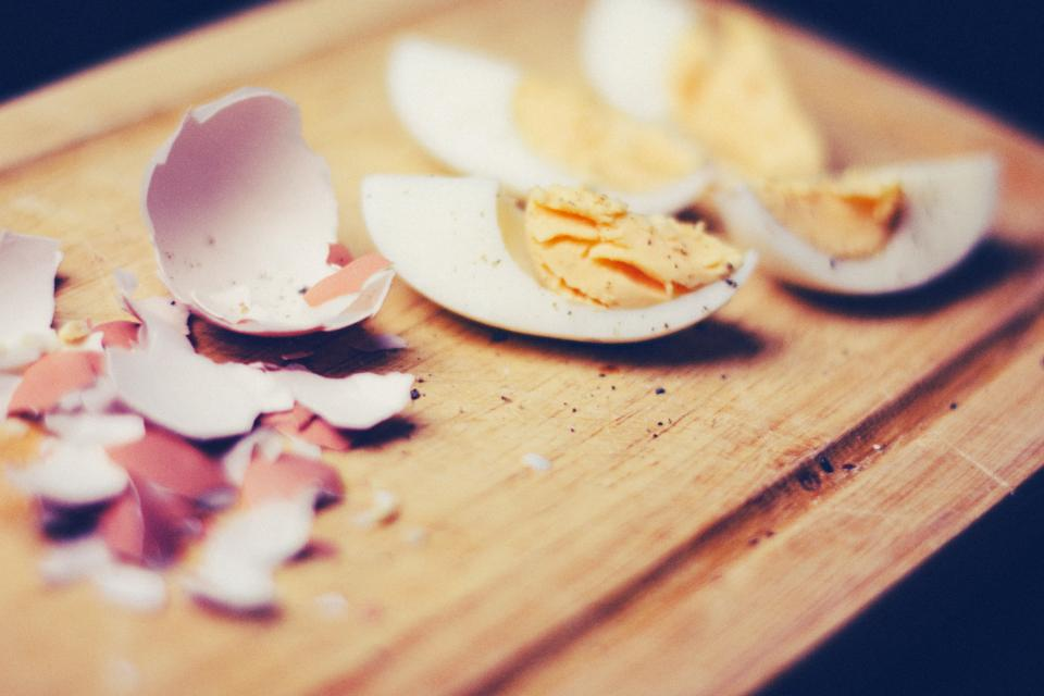 a hard boiled egg