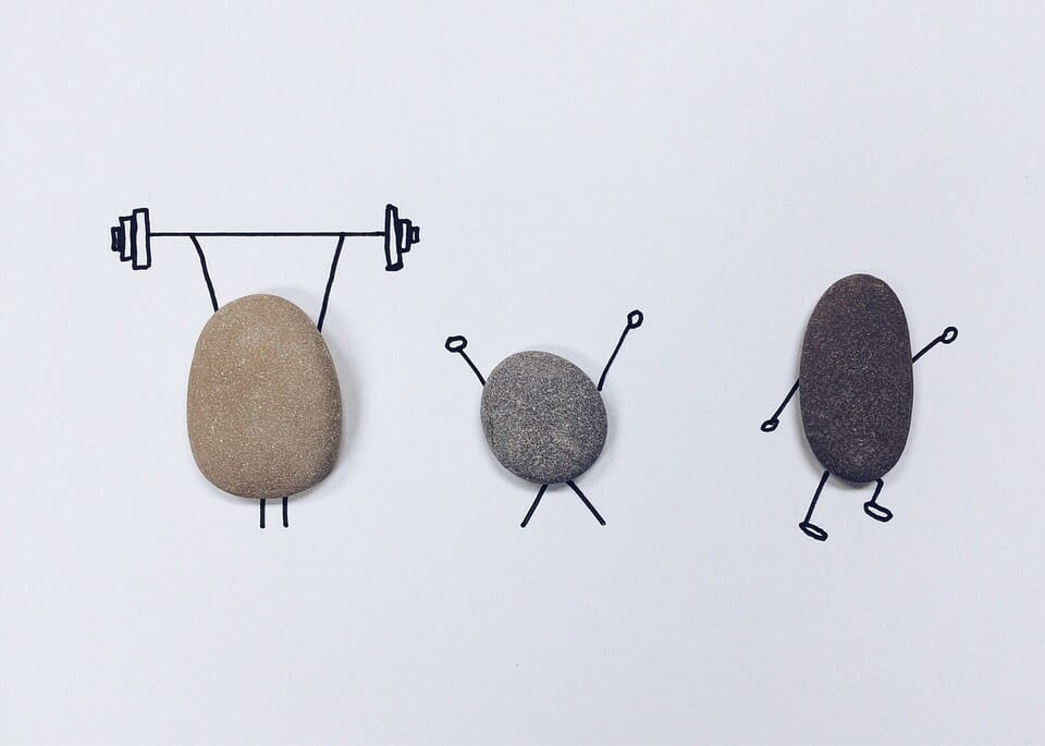 Image of rocks working out