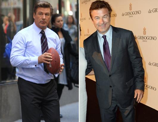Alec Baldwin - before and after weight loss