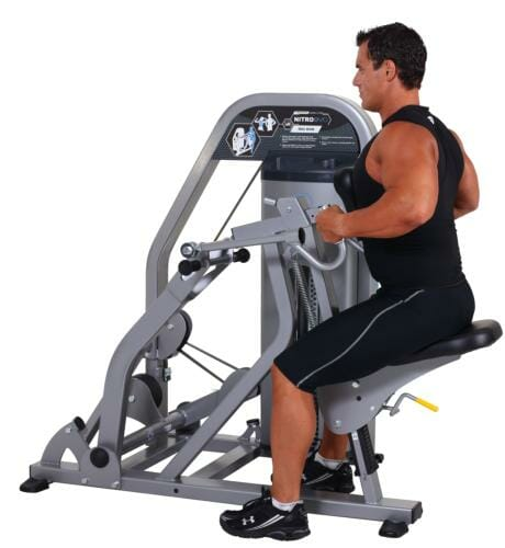 Man using the rowing machine