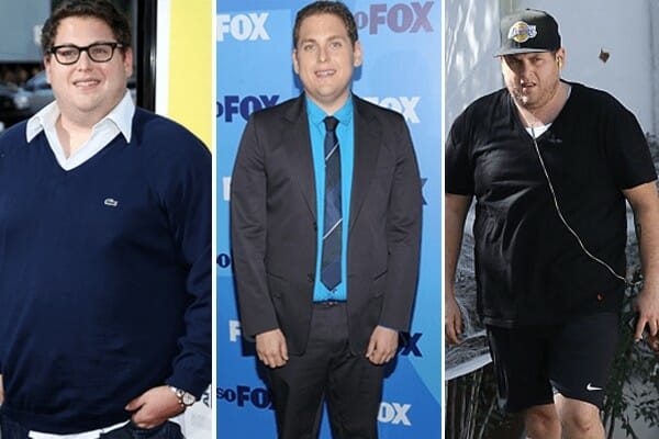 Jonah Hill - before and after weight loss