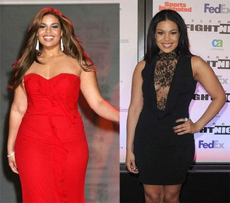 Jordin Sparks - before and after weight loss