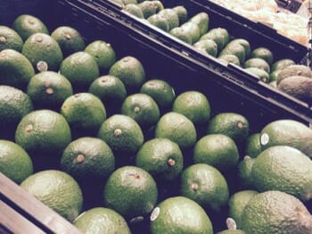 Avocado fruit on a market