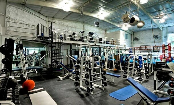 Inside of a well equipped gym