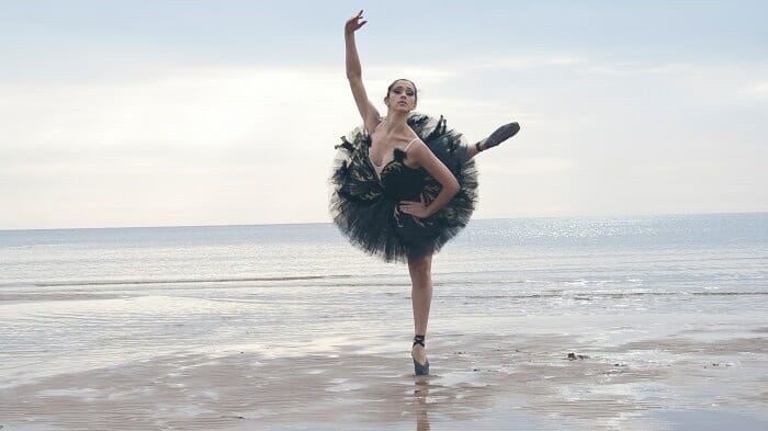 Ballerina on a beach