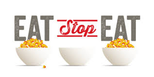 Eat stop eat logo on a white background