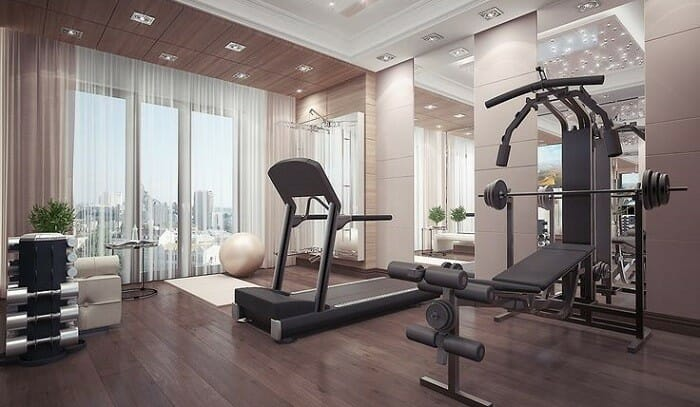 Simple and stylish home gym