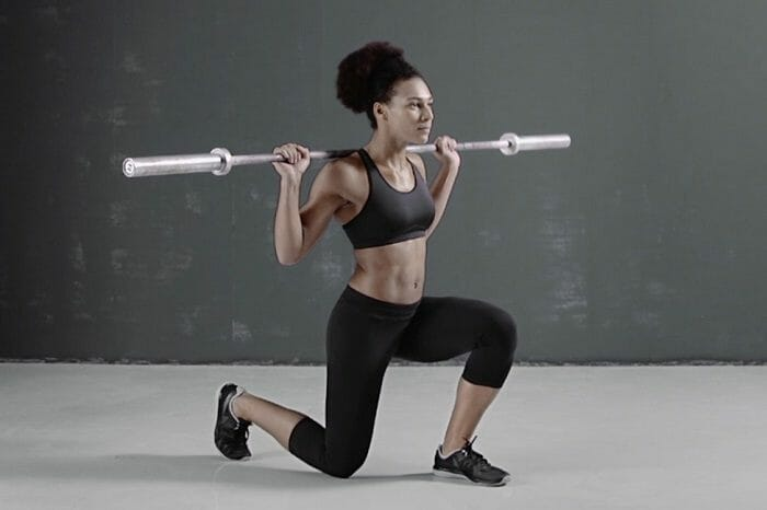 Woman performing lunges