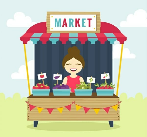 Organic market drawing