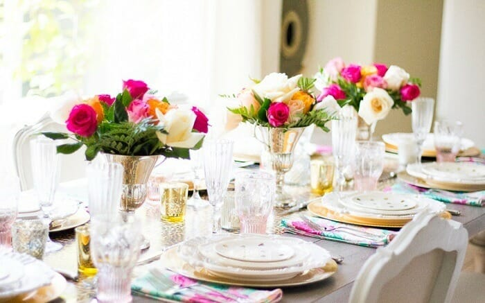 Colorful table settup