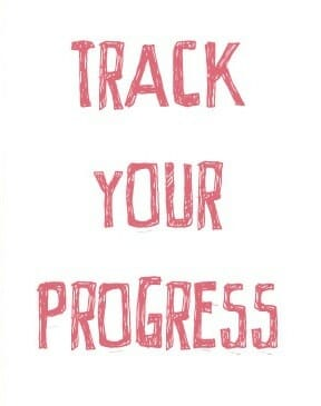 Track your progress sign
