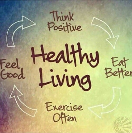 Healthy living quote