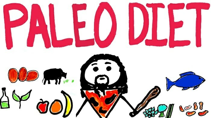Paleo diet drawing and scheme