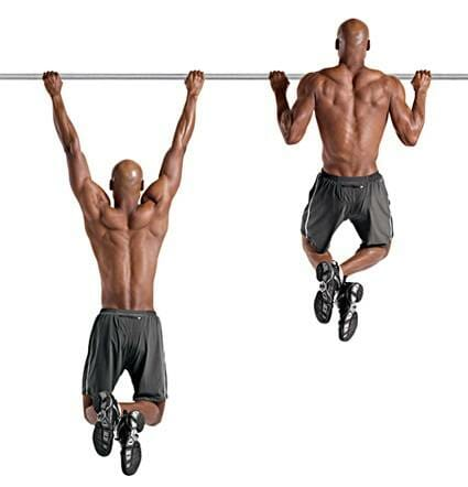 Man showing how to perform pull ups