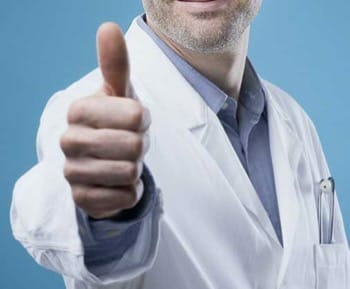 doctor's thumbs up