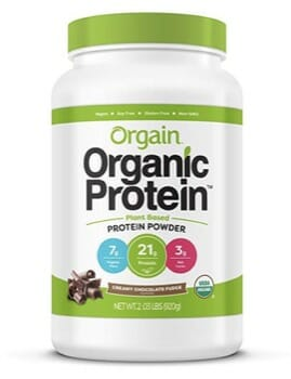 Orgain Organic Plant Based Protein Powder Supplement