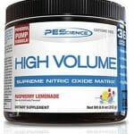 PEScience High Volume Caffeine Free Pump Pre Workout, Raspberry Lemonade Bottle-150x150