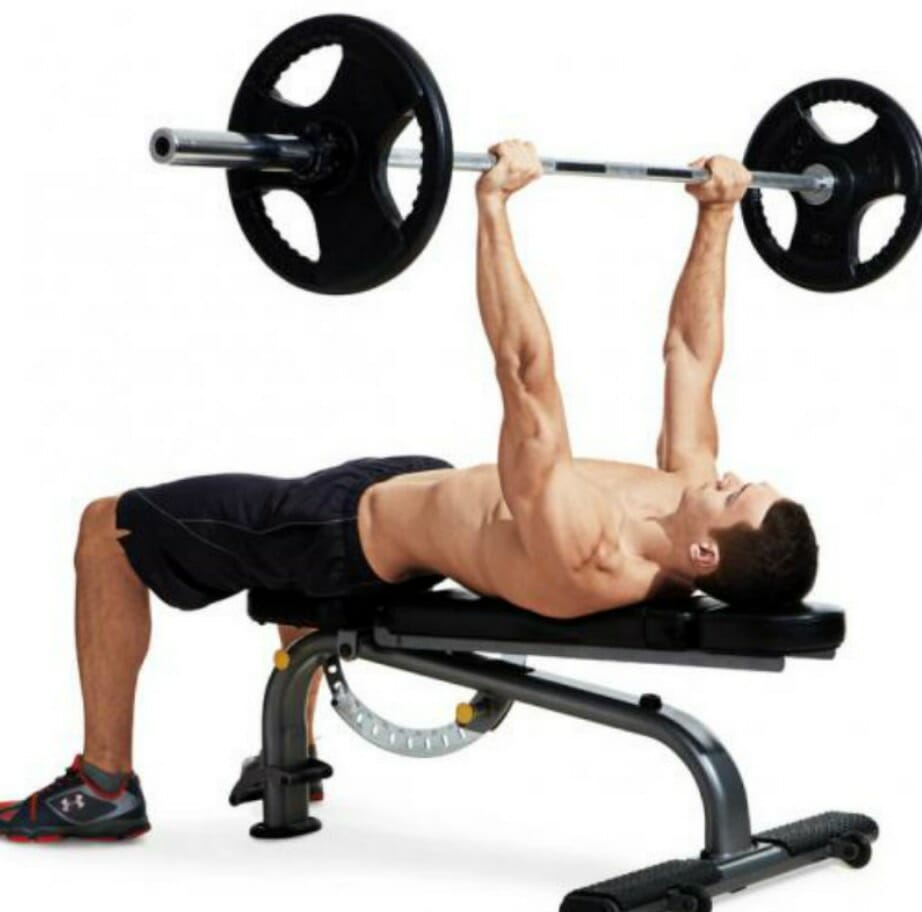 man doing chest press