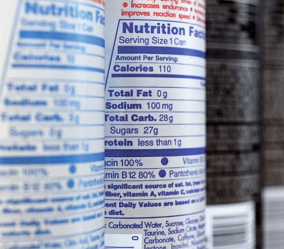 Supplements packaging Nutrition Facts