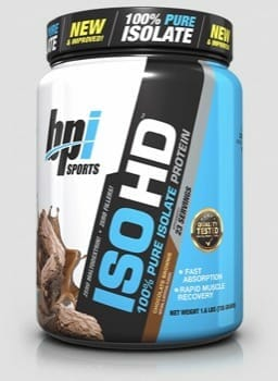 BPI Sports ISO HD low carb protein powder