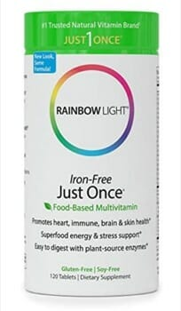 Rainbow Light Just Once vegan multivitamins