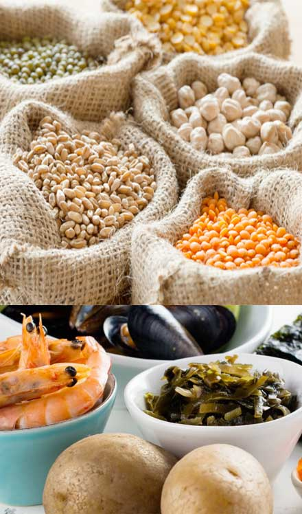 zinc and iodine rich foods