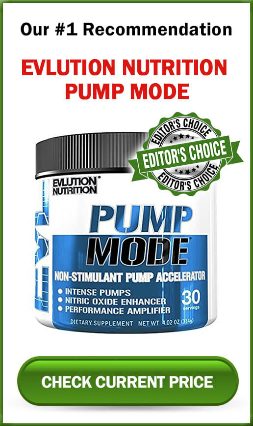 Evlution Nutrition Pump Mode Sidebar