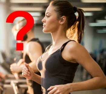 fitness girl with question