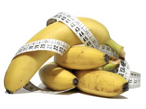 tape measure in banana