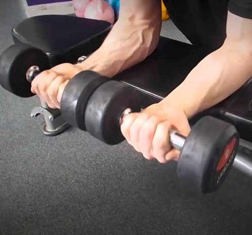 Palms-Up Dumbbell Wrist Curl