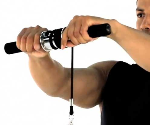 Performing Wrist Roller Exercises