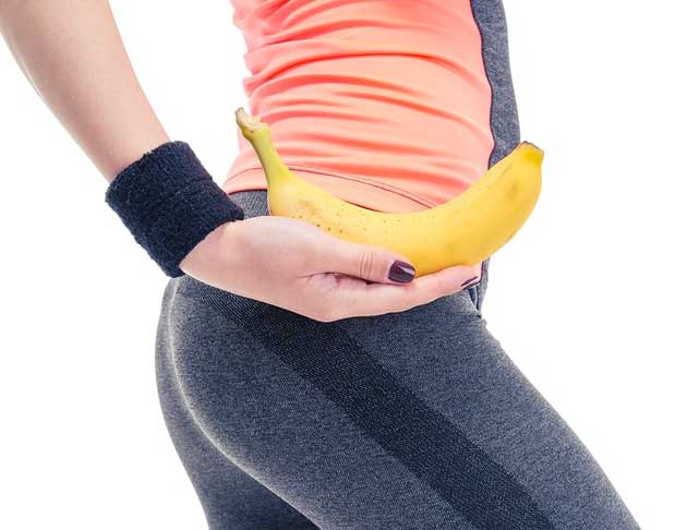 fit lady with banana
