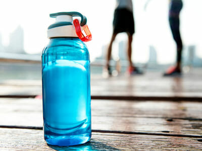 bottle of water for exercise