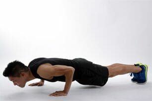 man doing abs exercise