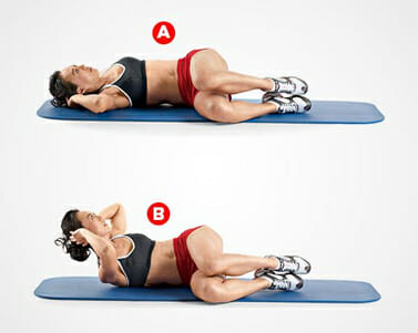 side crunches for ab exercise