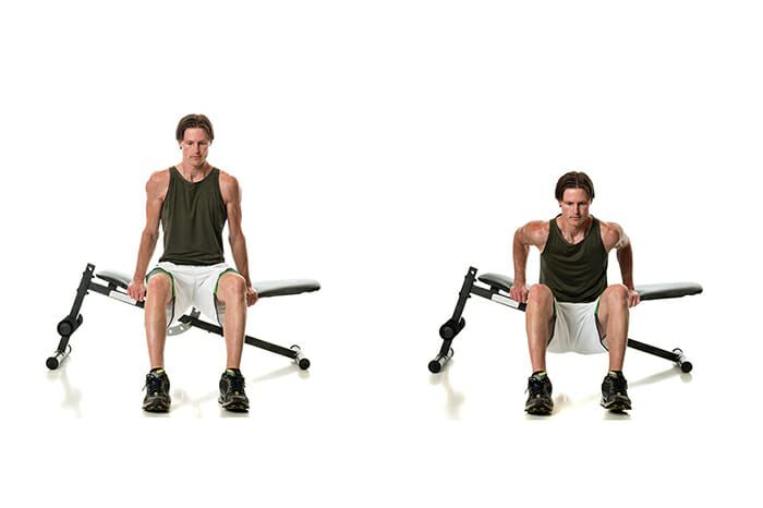 bench dips to get bigger triceps