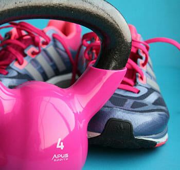 kettlebell and shoes
