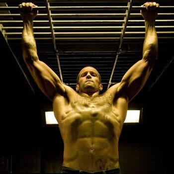 Jason Statham working out