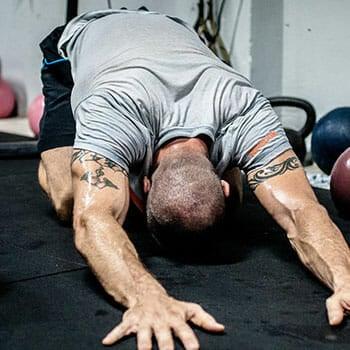 Man stretching - Jason Statham Workout