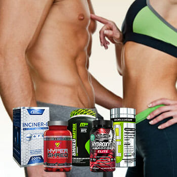 man and woman with fat burner supplements