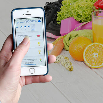 cellphone and fruits