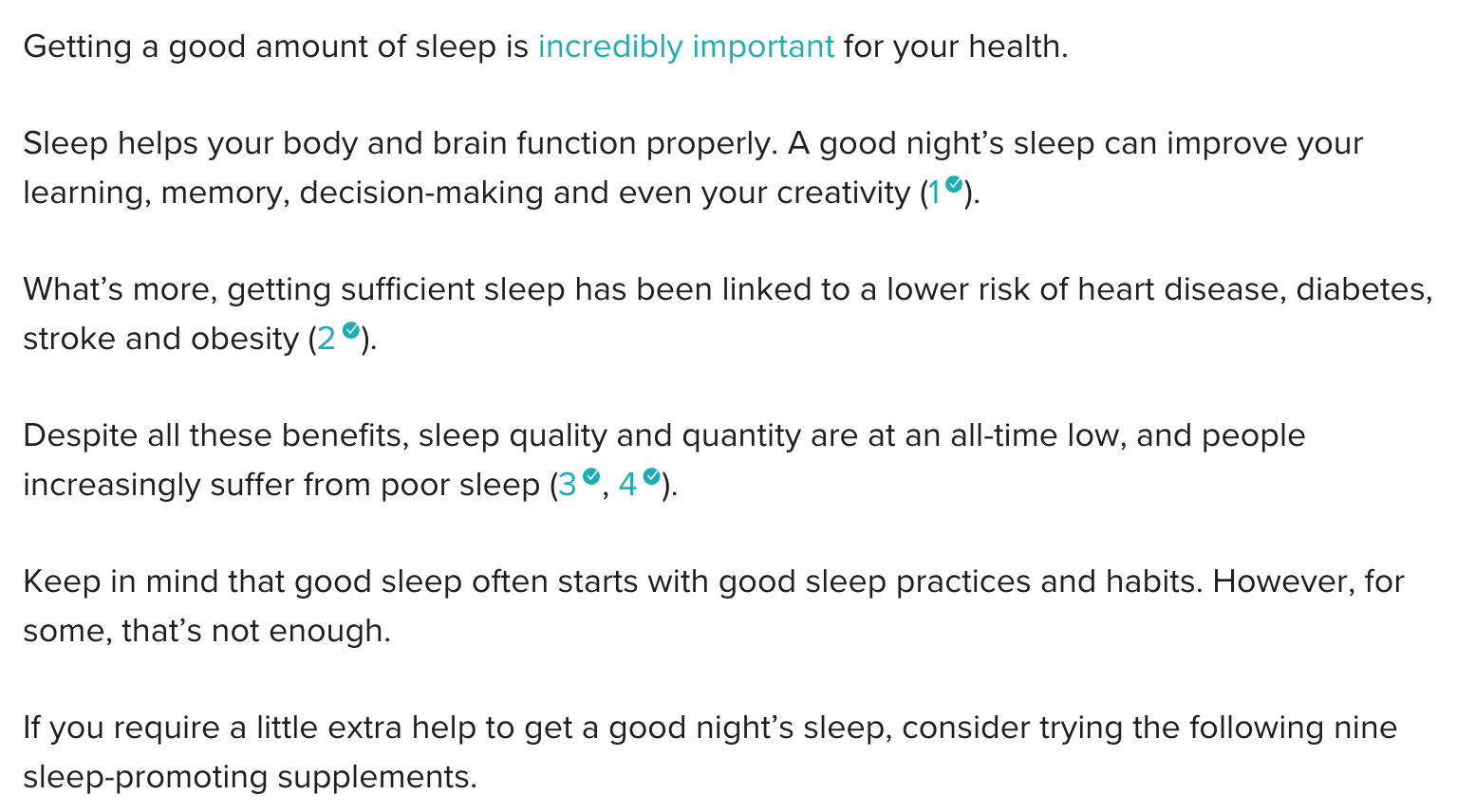 sleep supplements side effects