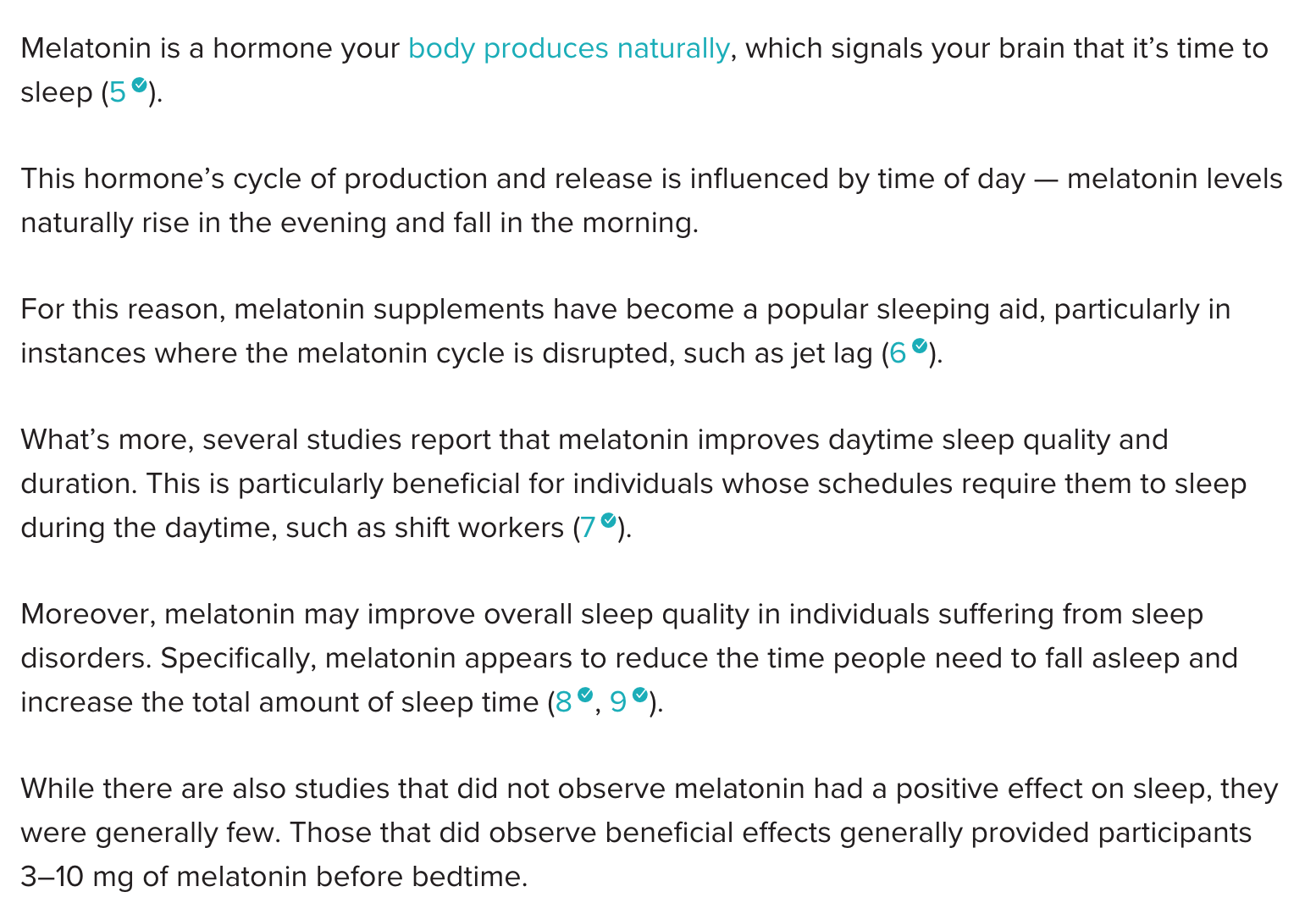 sleep supplements dosage
