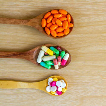 spoon with pills