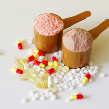 pills and scooped powder
