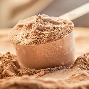 scoop of brown powder