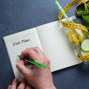 Noting down Diet Plan