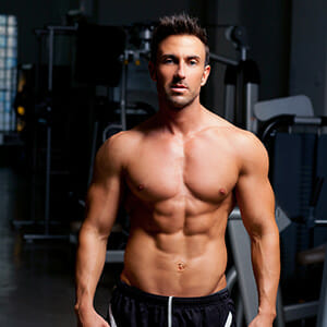 Muscular Man Standing