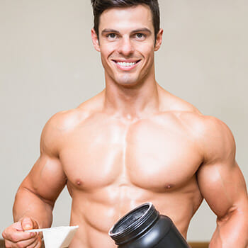 man with supplement