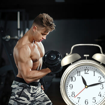 Man Working Out With Timing